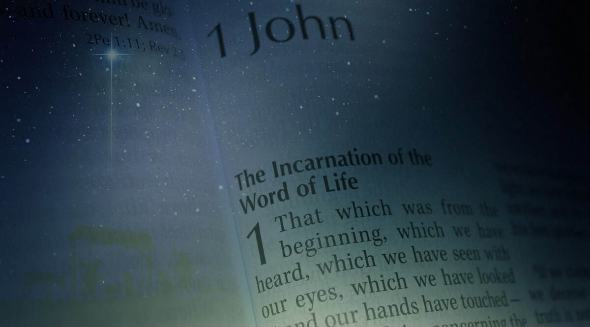 1 John 1-1 with Starry Sky