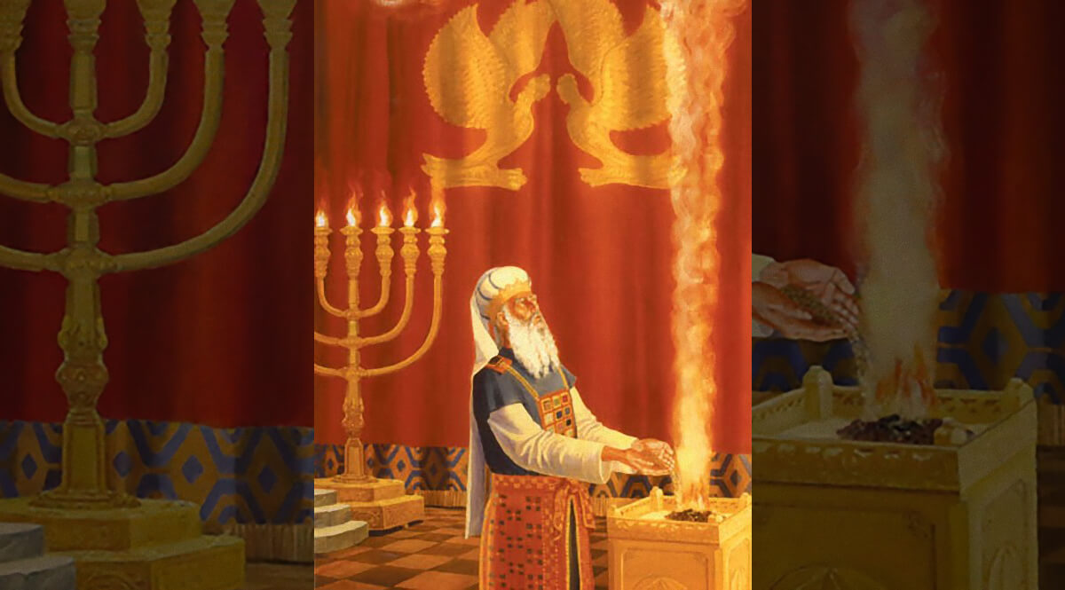 A Priest Burning Incense Upon the Golden Altar
