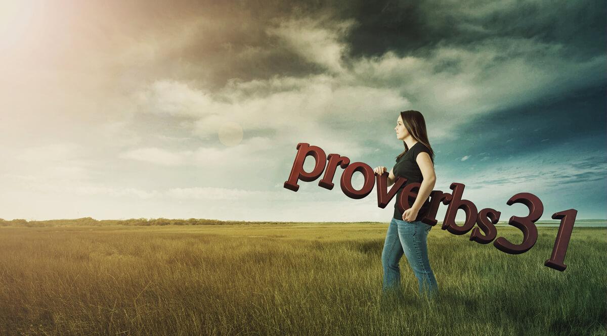 A Woman Carrying Proverbs 31 Across a Field