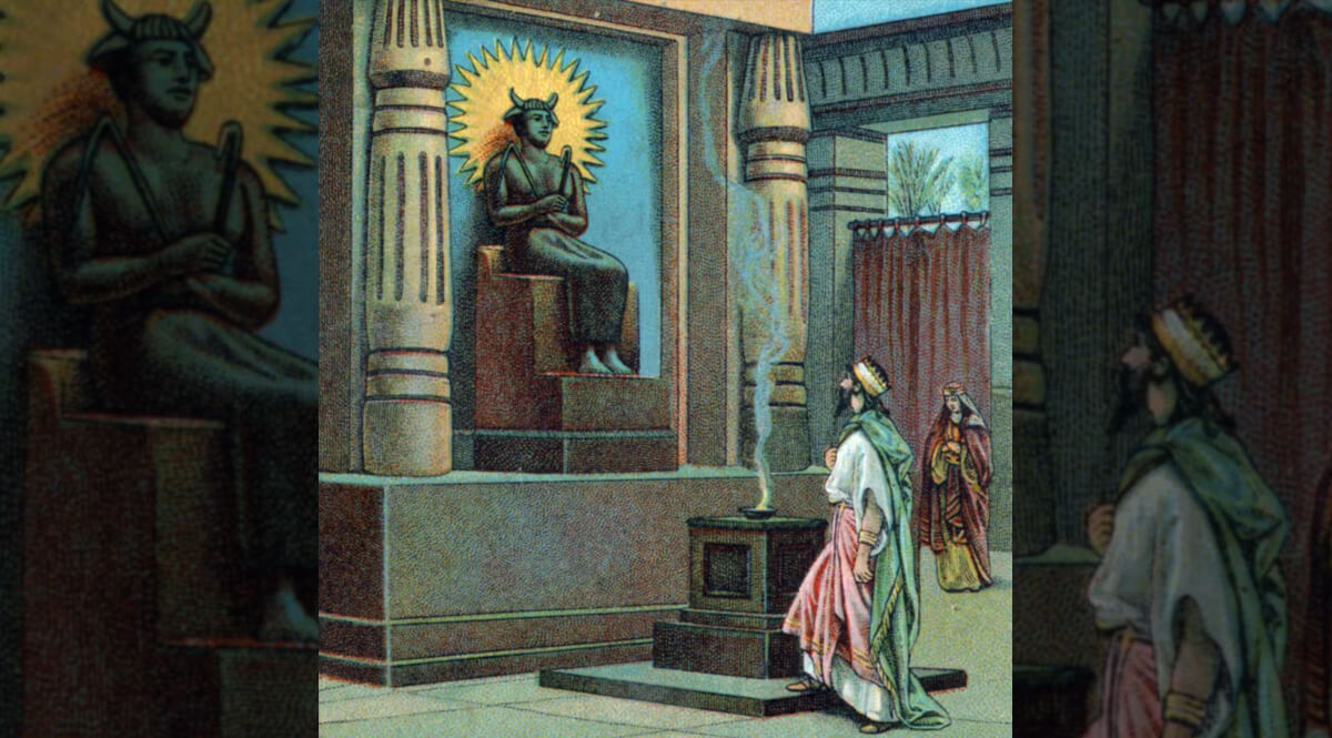 Ahab Worships at the Altar of Baal