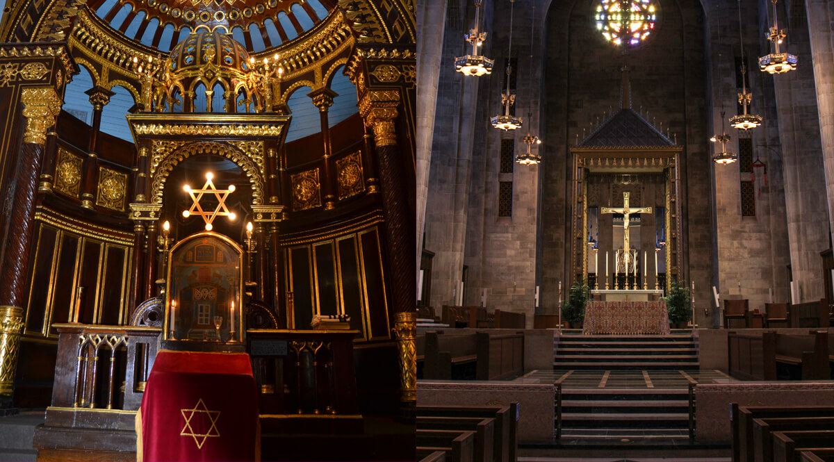 Altars in Synagogue and Cathedral