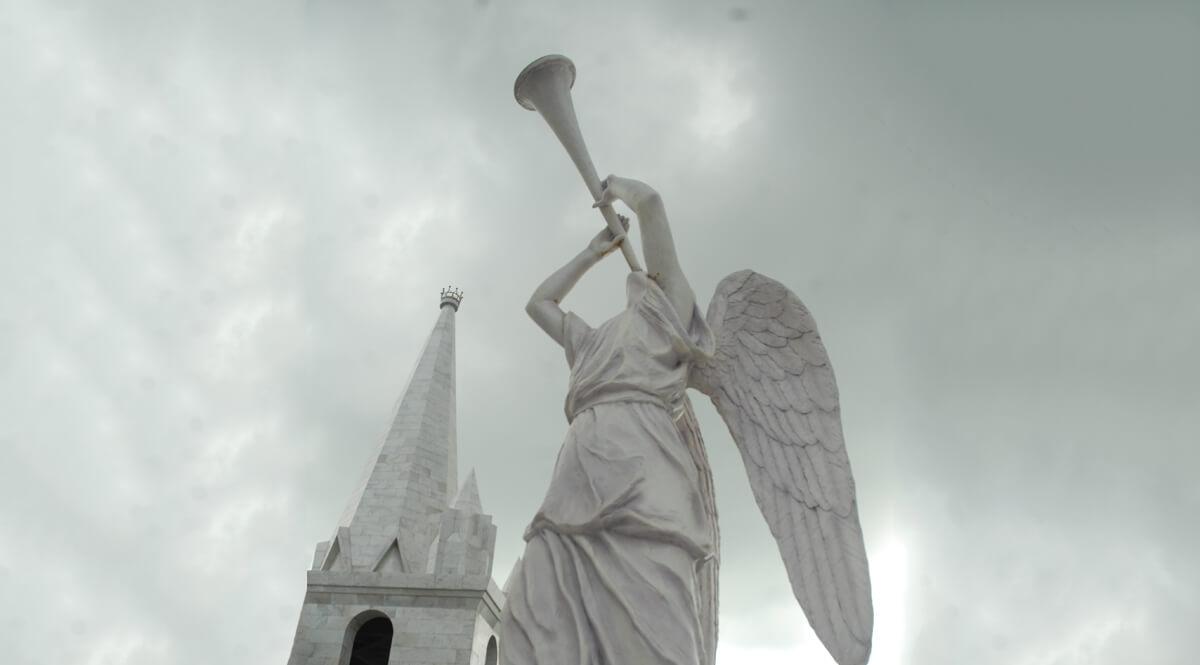 Angel Blowing a Trumpet - Solomon's Temple, Aizawl, India
