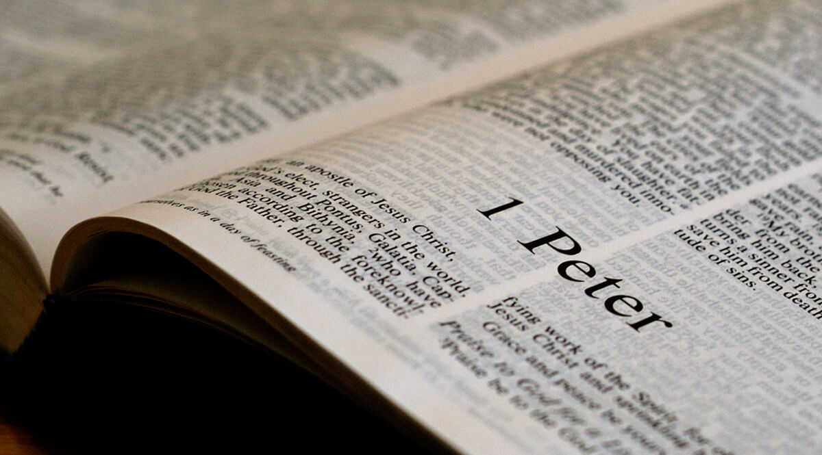 Bible Open to 1 Peter 1