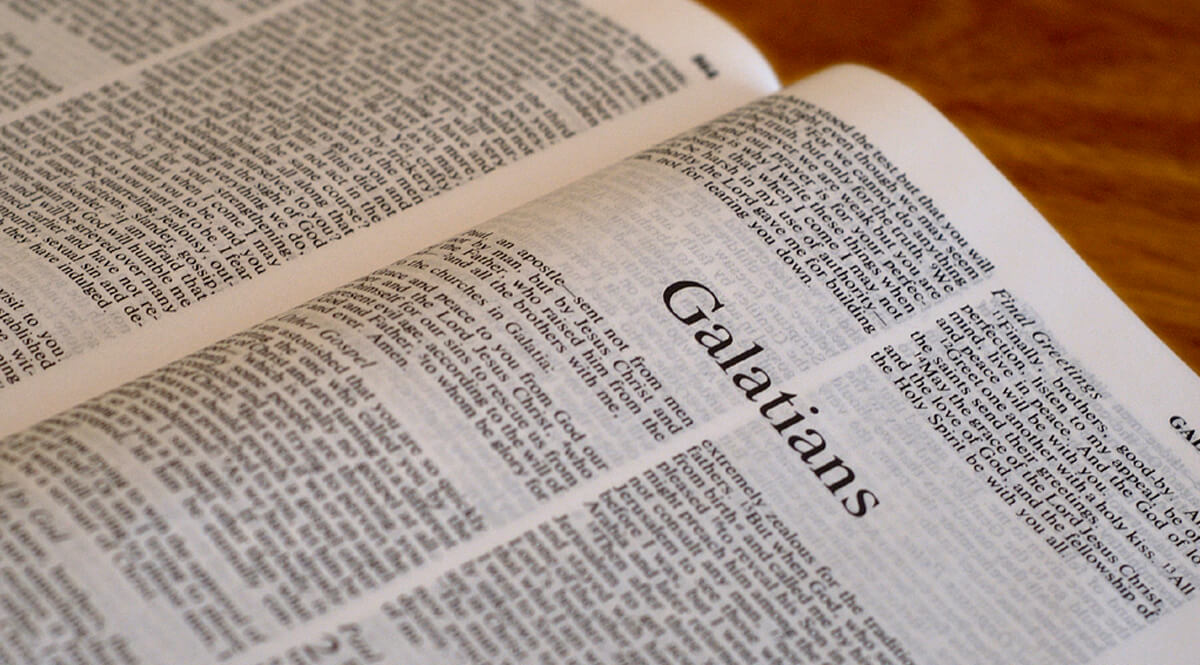 Bible Open to Galatians 1