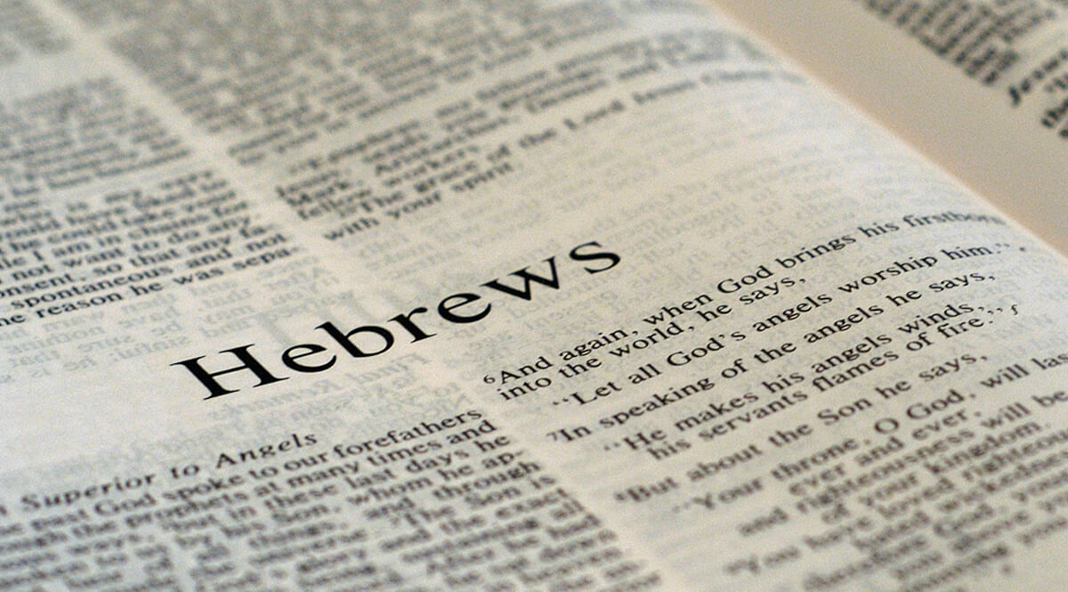 Bible Open to Hebrews