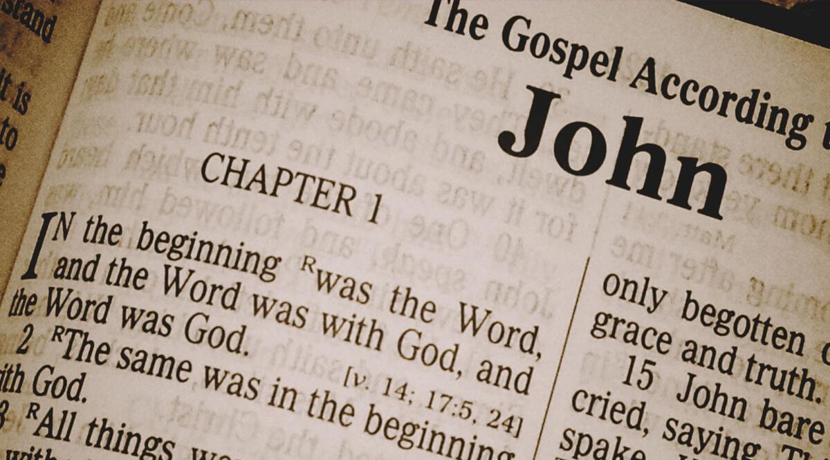Bible Open to John 1