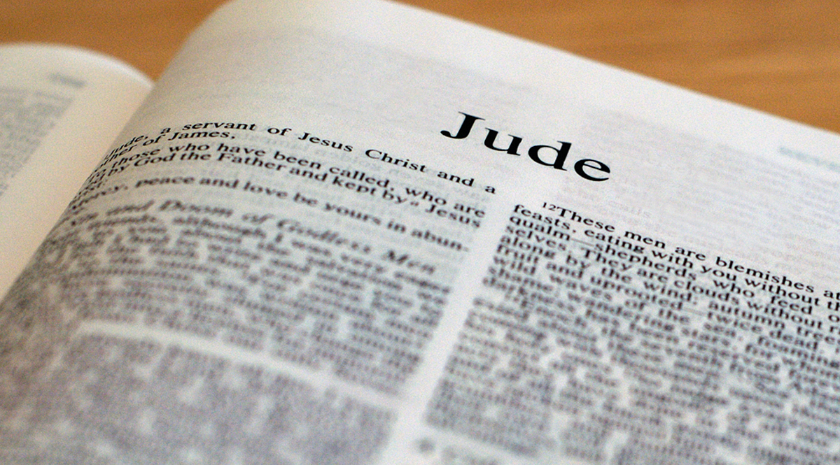 Bible Open to Jude