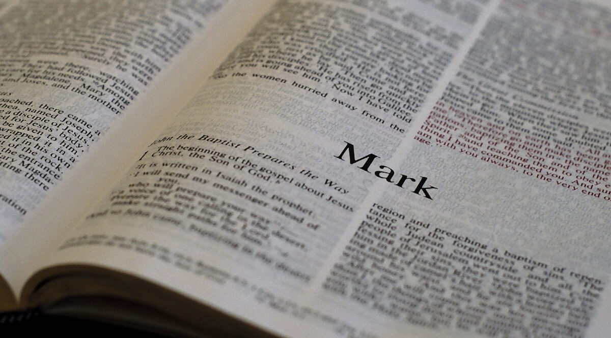 Bible Open to Mark 1