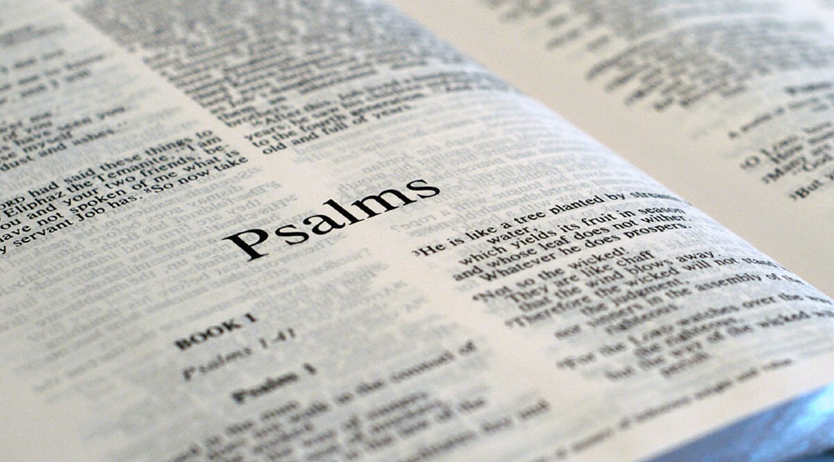 Bible Open to Psalm 1