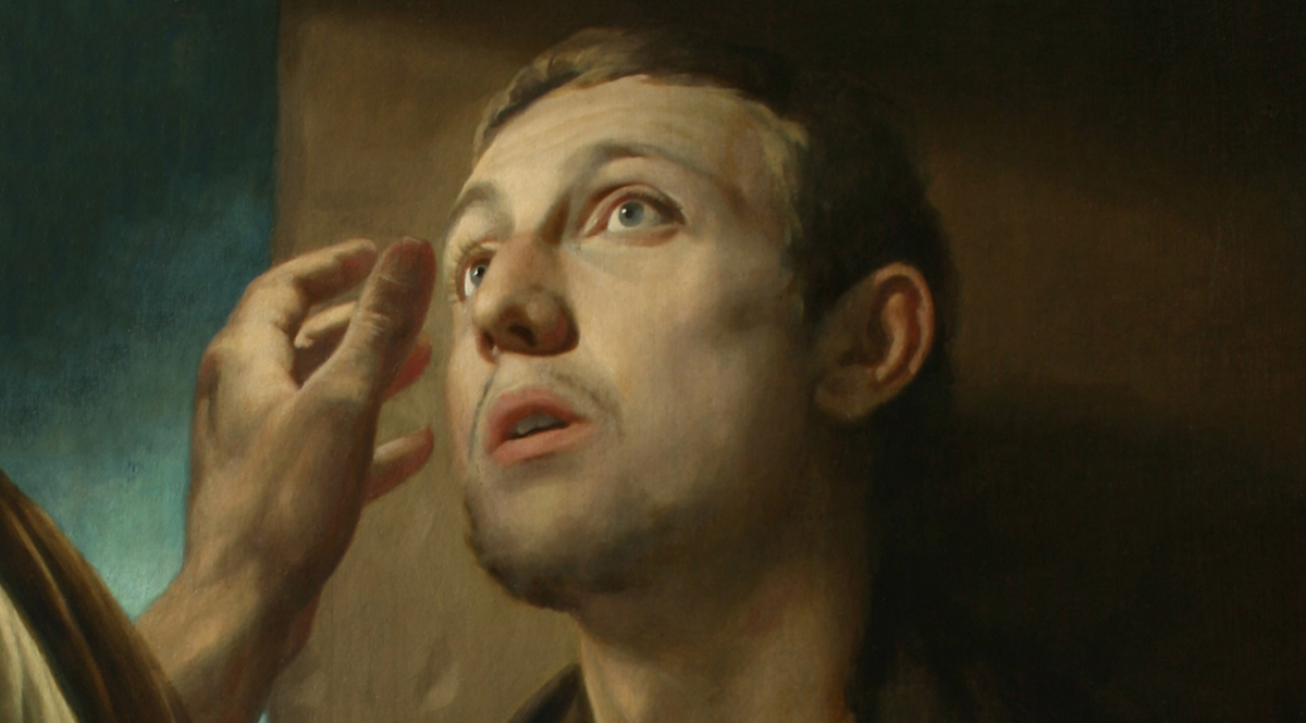 Christ and the Pauper (Healing of the Blind Man) - Mironov (Detail)