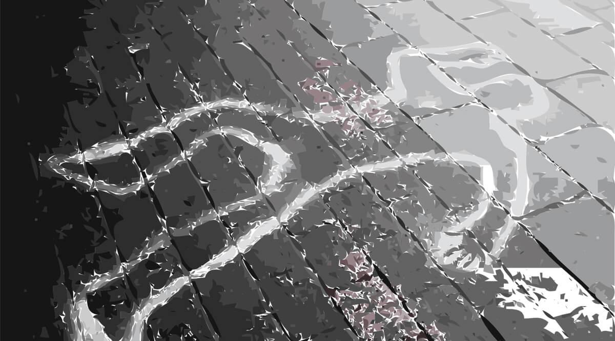 Crime Scene Chalk Outline