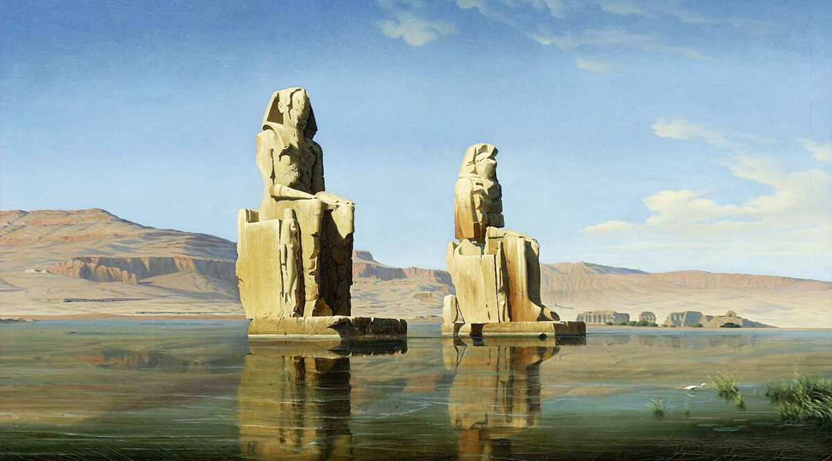 Die Kolosse des Memnon in Ober-Ägypten (The Colossi of Memnon in Upper Egypt)
