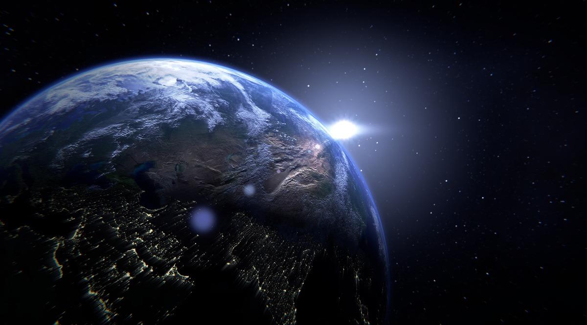 Eastern Hemisphere and Dawning Light