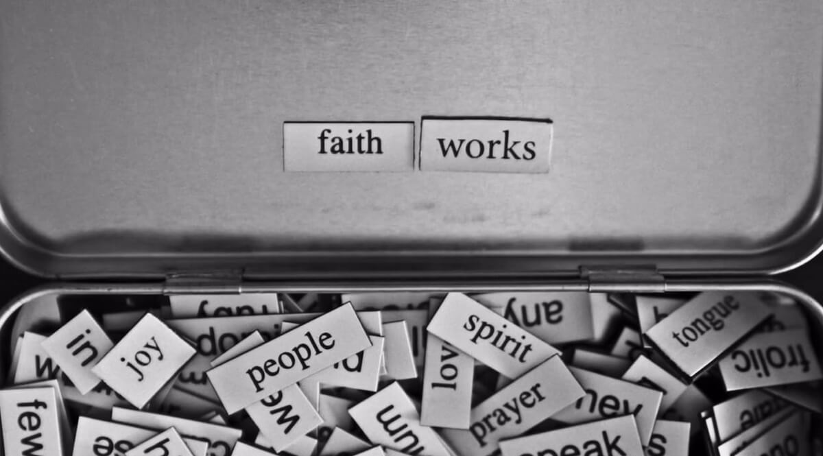 Faith and Works Word Magnets