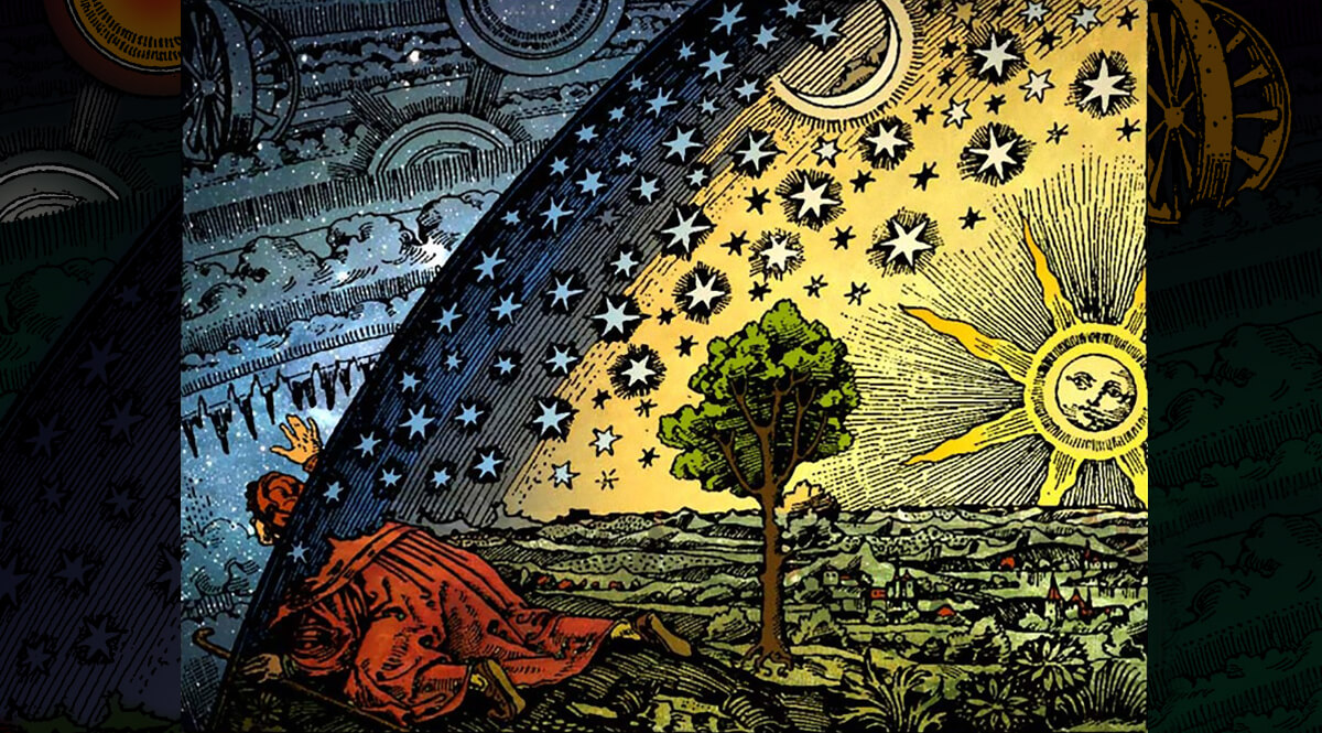 Flammarion Engraving - Colored