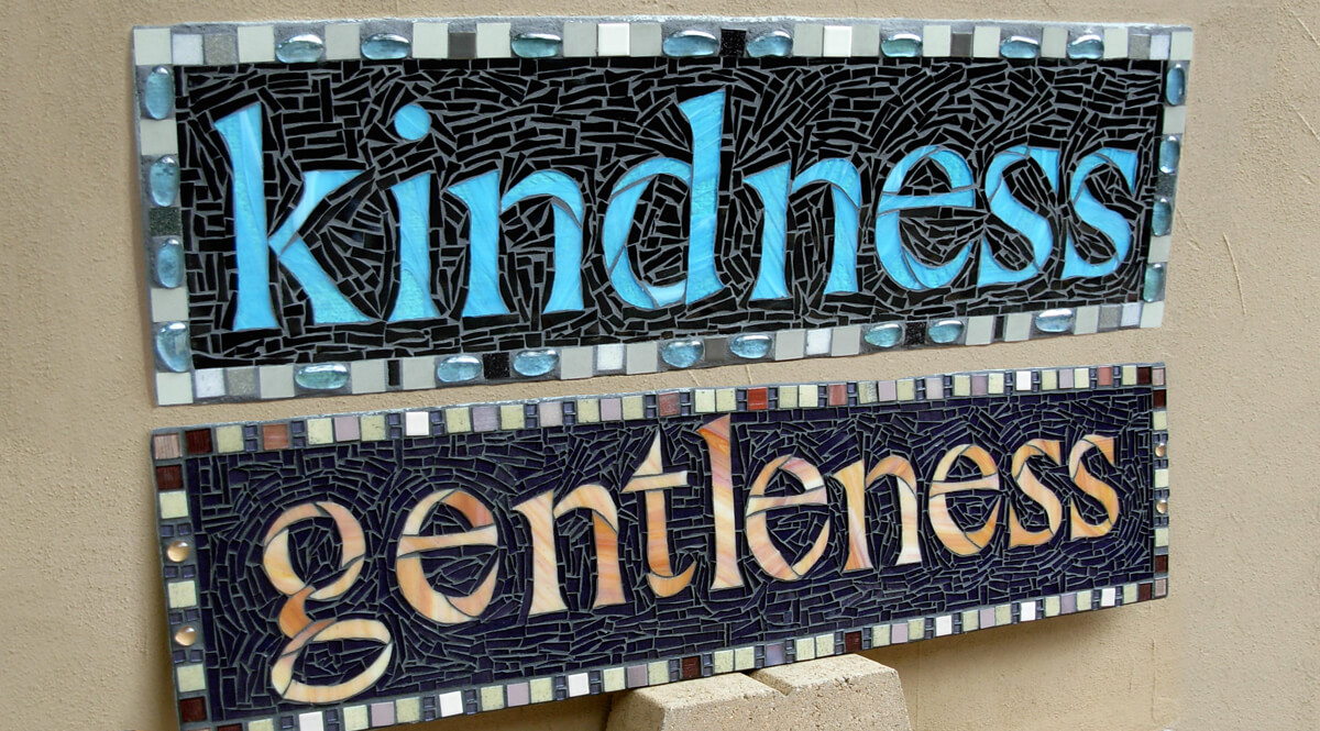 Fruits of the Spirit Mosaic - Kindness and Gentleness