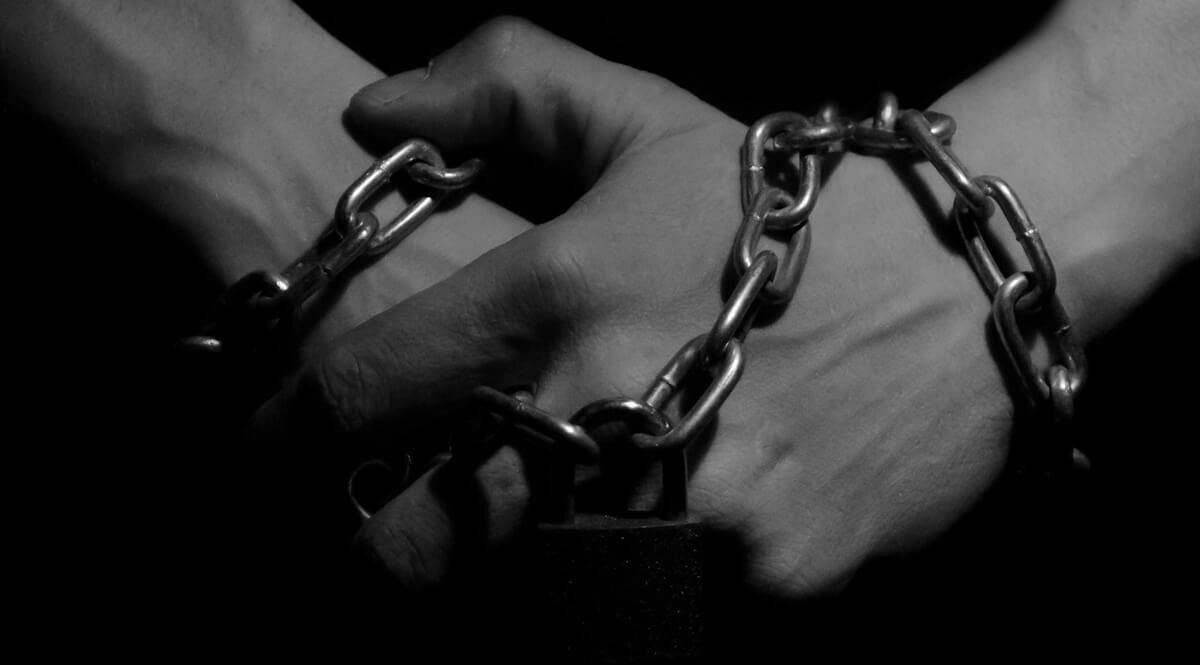 Hands in Chains - Black and White