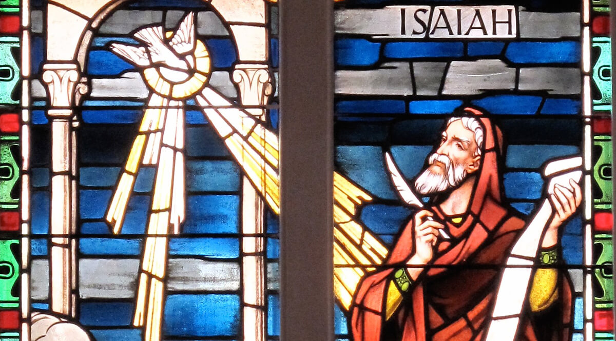 Isaiah Stained Glass Window