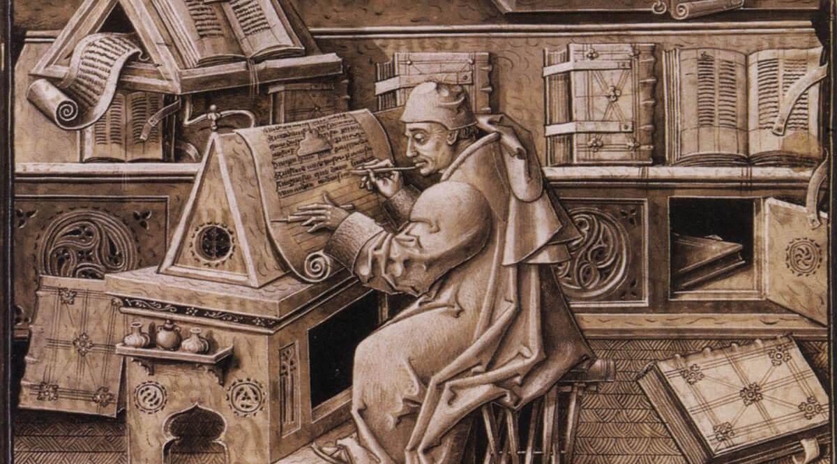 Jean Miélot in His Scriptorium