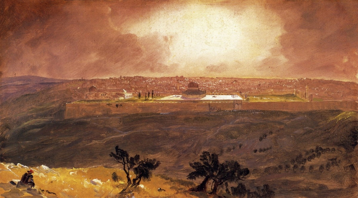 Jerusalem from the Mount of Olives (Sketch) - Church