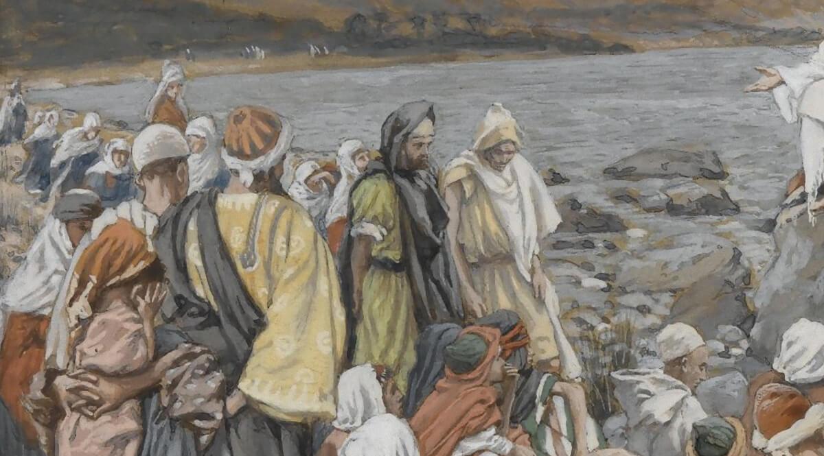 Jesus Teaches the People by the Sea (Jésus enseigne le peuple près de la mer) - Left