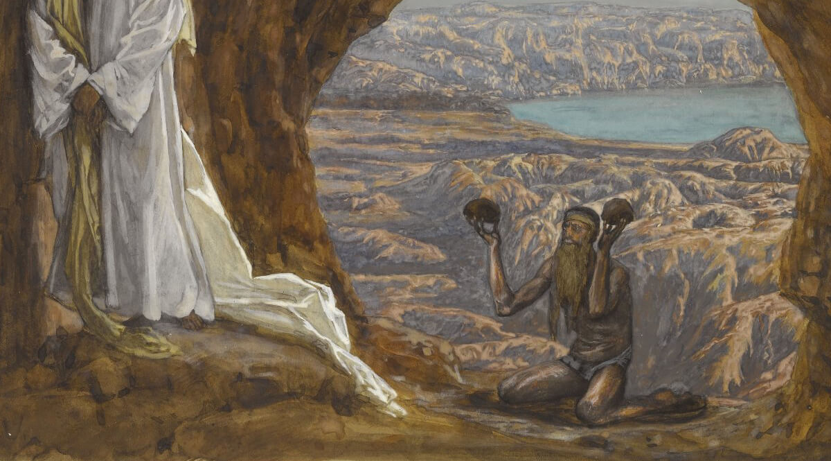 Jesus Tempted in the Wilderness - Tissot