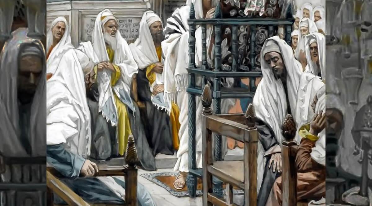 Jesus Unrolls the Book in the Synagogue (Jésus dans la synagogue déroule le livre)