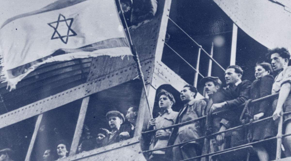 Jewish Refugees Aboard the SS Exodus