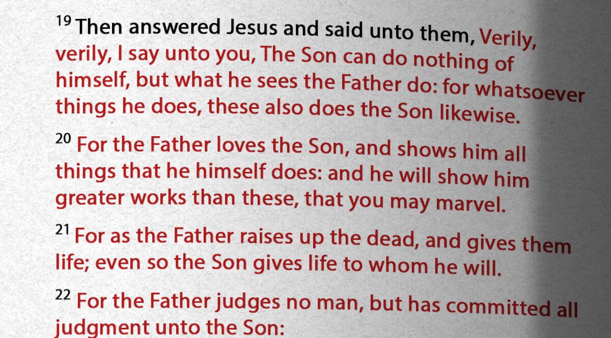 John 5,19-22
