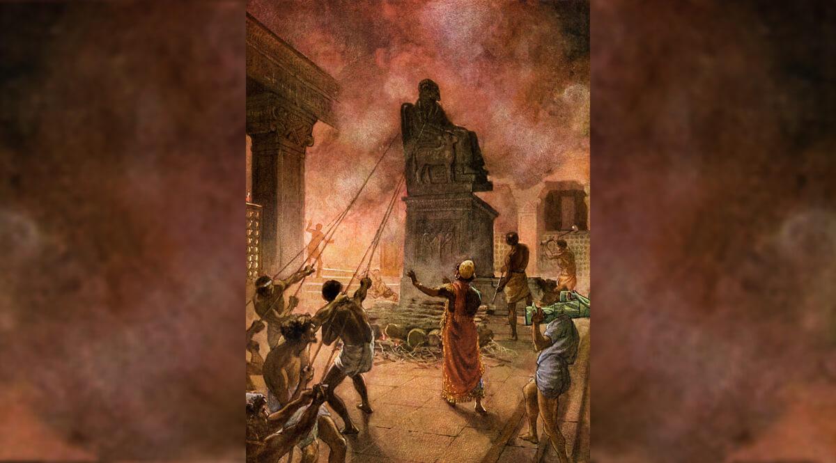 King Josiah Cleansing the Land of Idols