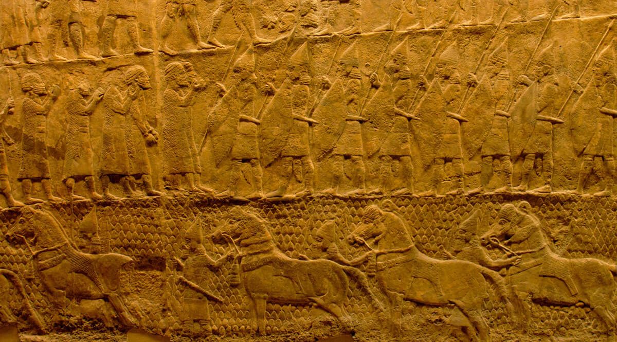 Lachish Reliefs - Panels 7-8 - Review of Prisoners