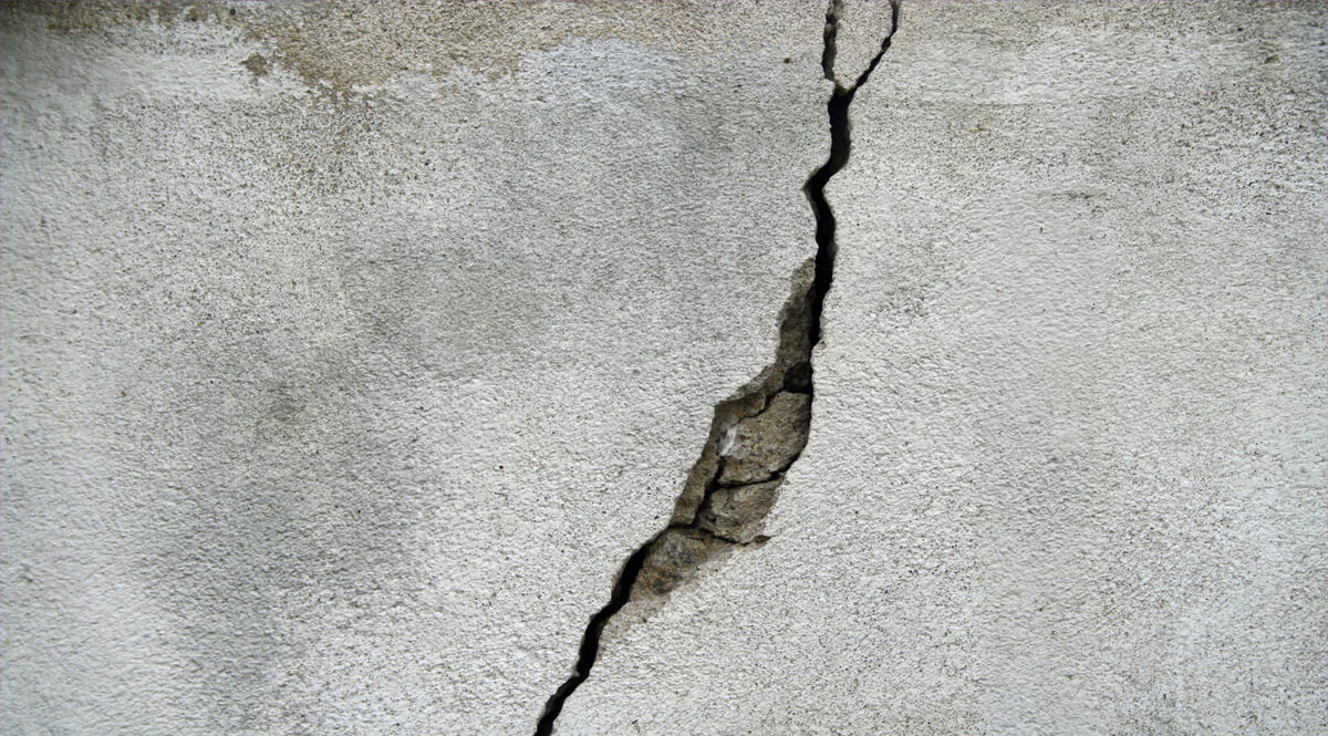Large Crack in Concrete