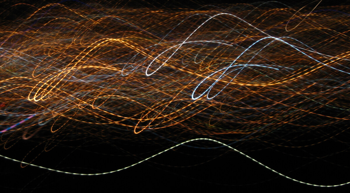 Motion-Blurred City Lights of Prince George, British Columbia