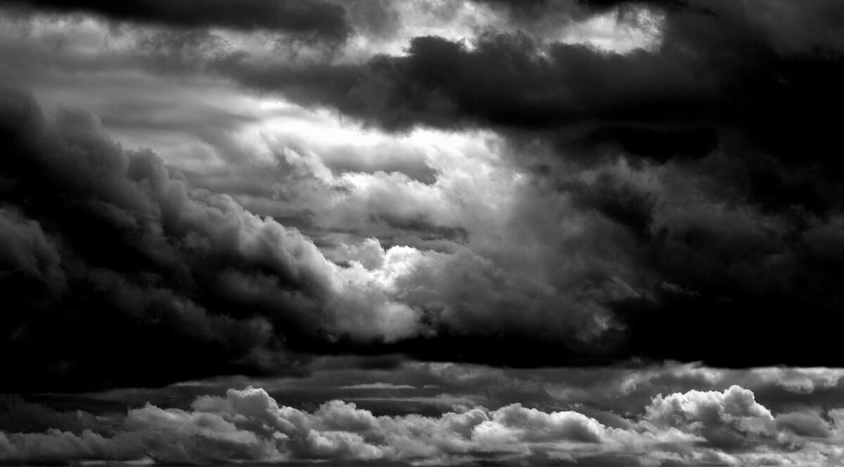 Ominous Clouds - Black and White