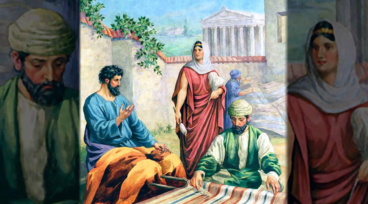 Paul, Priscilla, and Aquila at Corinth - Stemler