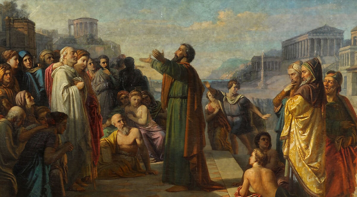 Paul in Athens - Unknown 19th-Century Master