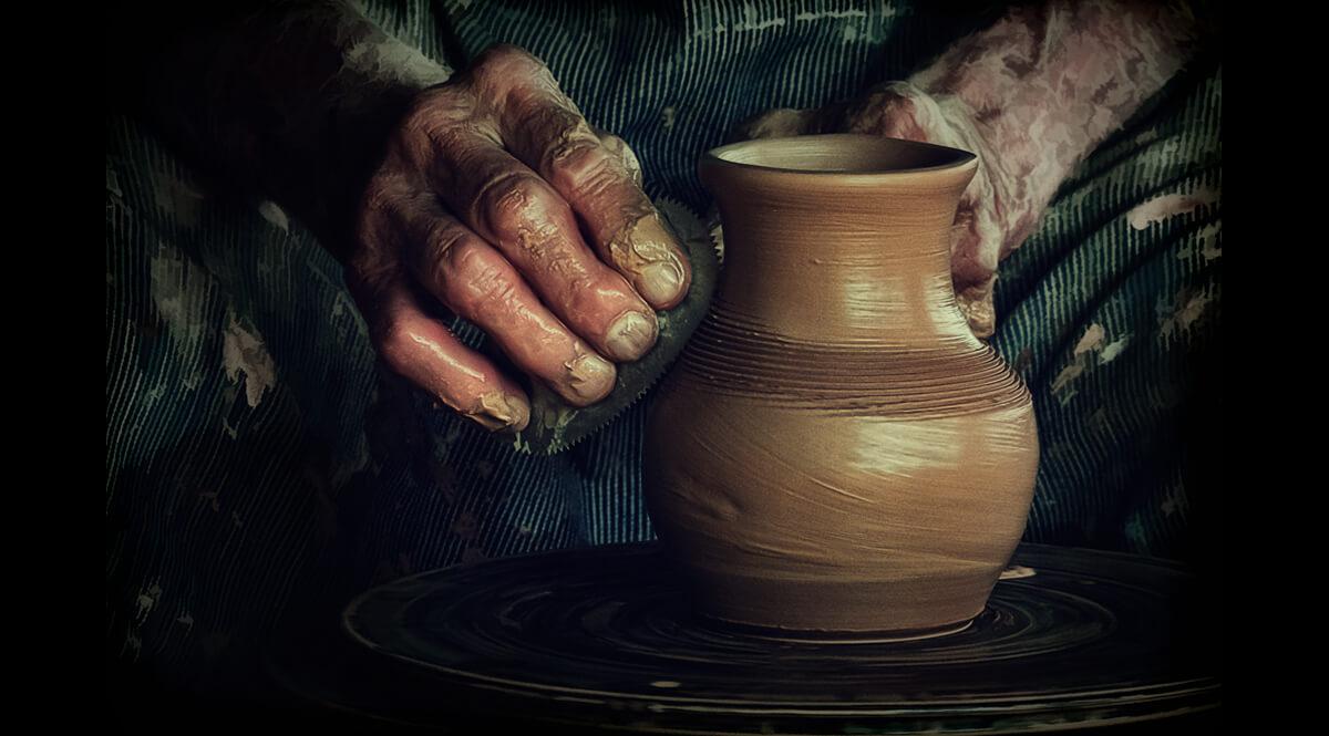 Potter's Hands - Harvest Day, Booker T Washington National Monument - September 2012