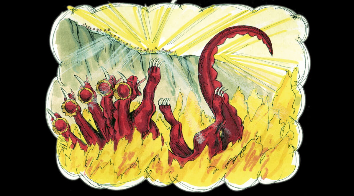 Revelation 20 - The Dragon Thrown in the Lake of Fire