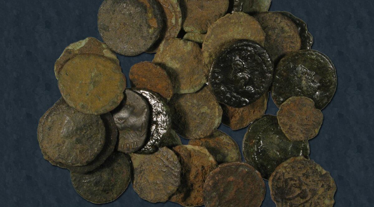 Roman Coin Hoard - 38 Nummi of Uncertain Emperors