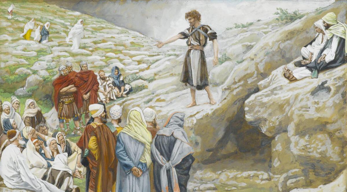 Saint John the Baptist and the Pharisees - Tissot