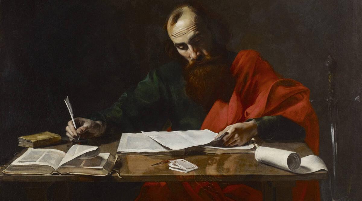 Saint Paul Writing His Epistles - de Boulogne (attributed)