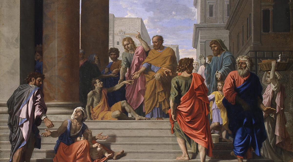 Saints Peter and John Healing the Lame Man (Saint Pierre et saint Jean guérissant le boiteux)