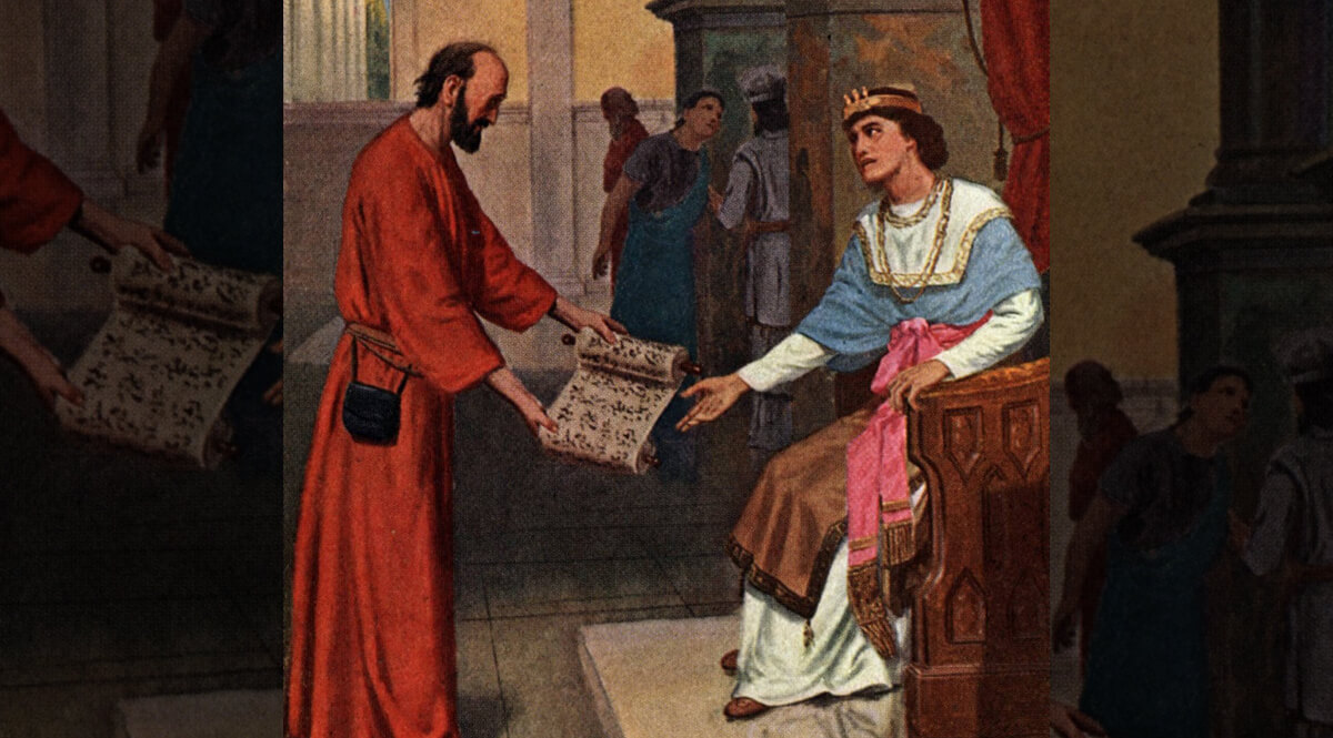 Shaphan Shows Josiah the Book of the Law - Willard
