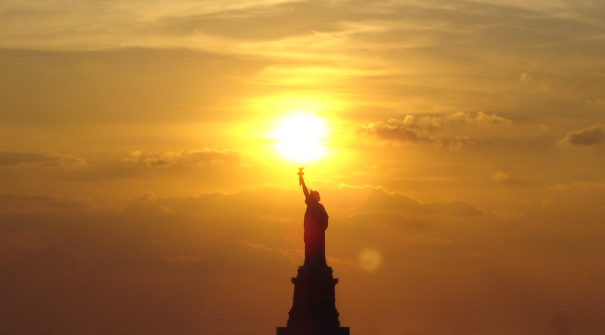 Statue of Liberty with Sun Torch