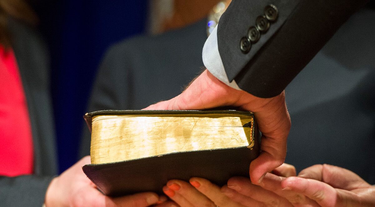 Swearing-In on a Bible
