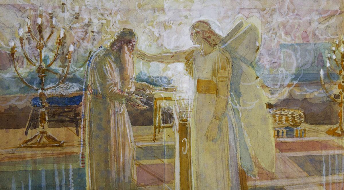 The Archangel Gabriel Strikes Zechariah Dumb (Arkhangel Gavriil porazhayet Zakhariyu nemotoy)