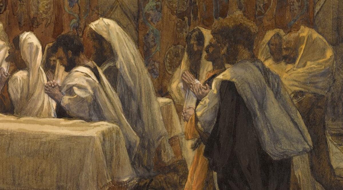 The Communion of the Apostles (La communion des apôtres) - Detail, Right