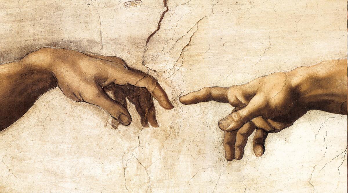 The Creation of Adam (Creazione di Adamo) - Detail, Hands