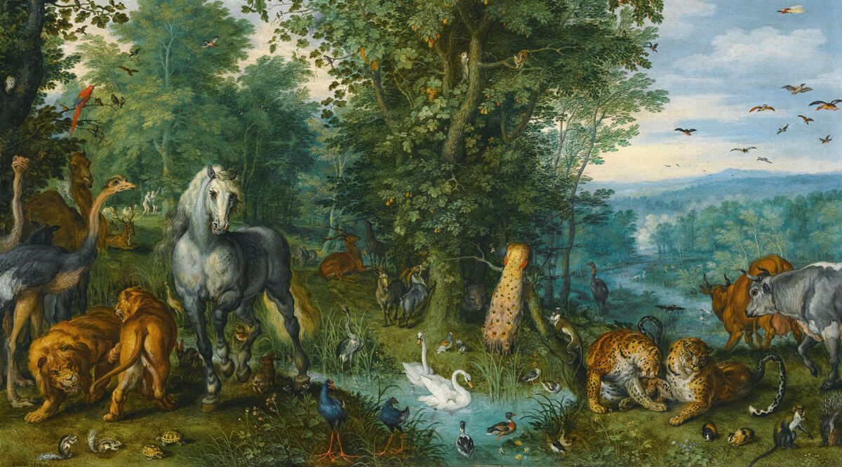 The Garden of Eden with the Fall of Man - Brueghal