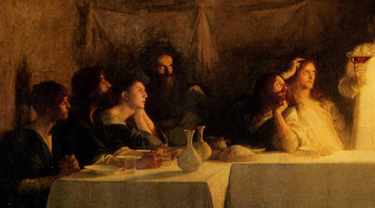 The Last Supper (La Cène) (Detail, Left) - Dagnan-Bouveret